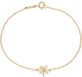Jennifer Meyer Mini Clover 18-karat Gold Diamond Bracelet