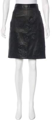 Chanel Paris-Shanghai Leather Skirt