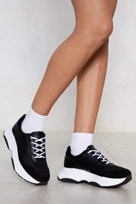 Nasty Gal Looks Fade Chunky Sneaker