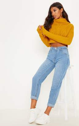 PrettyLittleThing Light Wash True Boyfriend Fit Jean