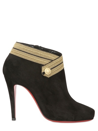 Christian Louboutin 100mm Marychal Suede Military Boots