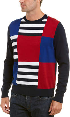 Brooks Brothers Patchwork Crewneck Sweater