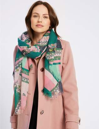 Marks and Spencer Patchwork Scarf