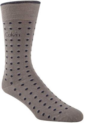 Calvin Klein Men's Dot-Print Fashion Dress Socks