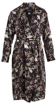 Meng - Floral Print Silk Satin Robe - Mens - Multi