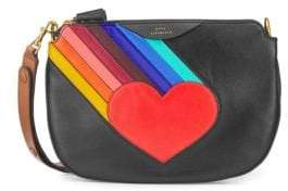 Anya Hindmarch Leather Rainbow Heart Crossbody Bag