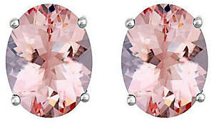 Premier 1.75 cttw Oval Morganite Stud Earrings,