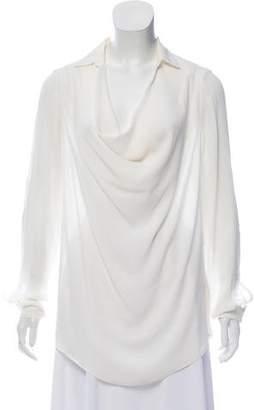 Eleventy Silk Long Sleeve Blouse w/ Tags
