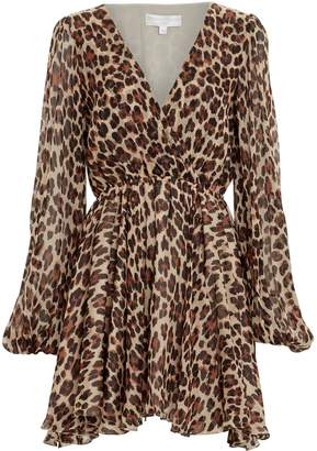 Caroline Constas Olena Silk Leopard Dress