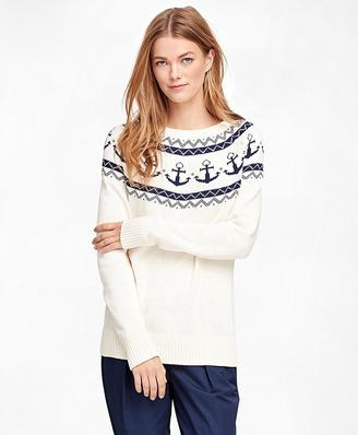 Cotton Fair Isle Sweater $98 thestylecure.com