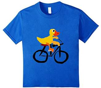 Smiletodaytees Funny Duck Riding Bicycle Cartoon tee shirt