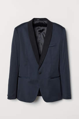 H&M Tuxedo Jacket Skinny fit - Blue