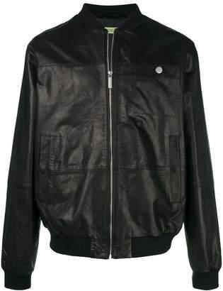Versace rear print bomber jacket