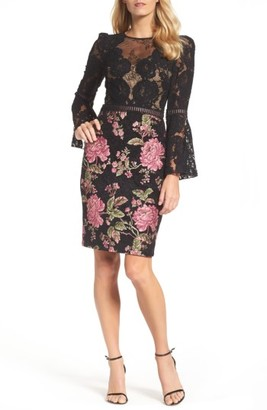 Women's Tadashi Shoji Lace & Brocade Sheath Dress $408 thestylecure.com