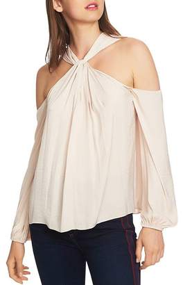 1 STATE 1.STATE Cross-Neck Cold-Shoulder Top