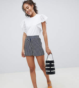 Asos Tall DESIGN Tall culotte shorts in easy stripe