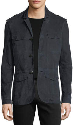 John Varvatos Suede Military Field Jacket