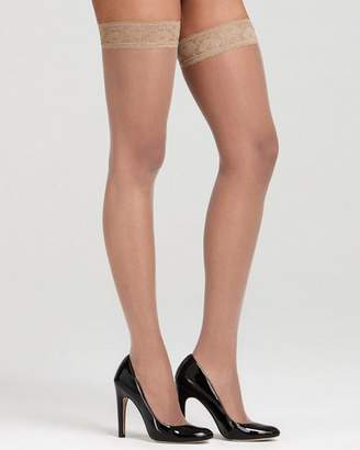 Hue French Lace Thigh Highs