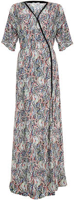 Dagmar Lillian Gobelin Dark Multicolour Print Maxi Dress