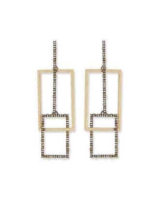 Alexis Bittar Brutalist Crystal Encrusted Link Earrings