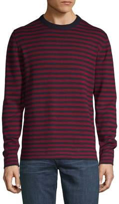 French Connection Striped Cotton & Wool Sweater