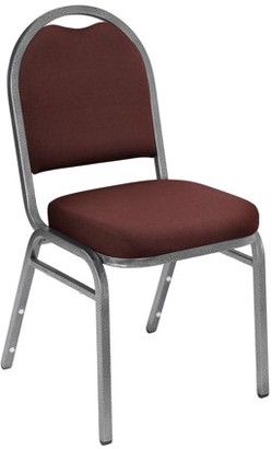National Public Seating NPS 9200 Series Premium Fabric Upholstered Stack Chair, Rich Maroon