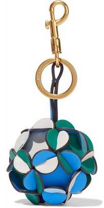 Anya Hindmarch Trigger Pi Color-Block Leather Keychain