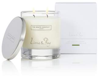 The White Company Lime & Bay Luxury Candle with Lid