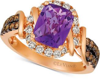 LeVian Le Vian Le Vian Nude Grape Amethyst (1-3/4 ct. t.w.) & Diamond (5/8 ct. t.w.) Ring in 14k Rose Gold