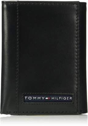 Tommy Hilfiger Men's RFID Blocking Leather Cambridge Extra Capacity Trifold