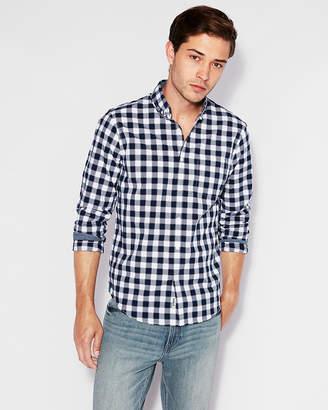 Express Classic Soft Wash Plaid Shirt