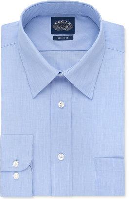 Eagle Men's Slim-Fit Non-Iron Blue Crystal Micro-Stripe Dress Shirt $69.50 thestylecure.com