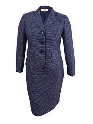 Le Suit Women's Tweed 3 Button Skirt