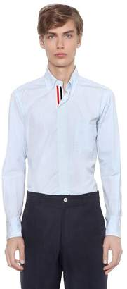 Thom Browne Cotton Poplin Shirt W/ Grosgrain Detail