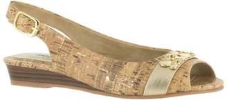 Easy Street Shoes Wedge Slingback Sandals - Imprompt