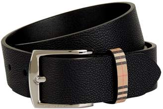 Burberry Leather Check Belt
