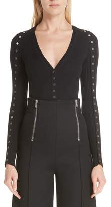 Alexander Wang Snap Sleeve Cardigan