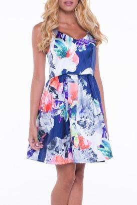 Bella Floral A-Line Dress $80 thestylecure.com