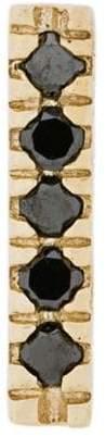 Black Diamond Otiumberg 9kt gold and bar stud