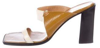 Hermes Patent Leather Slide Sandals
