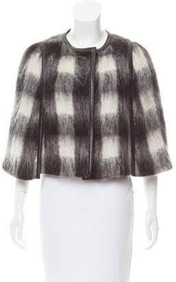 Prada Mohair Leather-Trimmed Cape