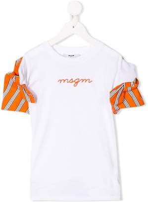 MSGM Kids contrast sleeve T-shirt