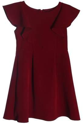 Kids Dream Princess Line Ruffle Dress Burgandy