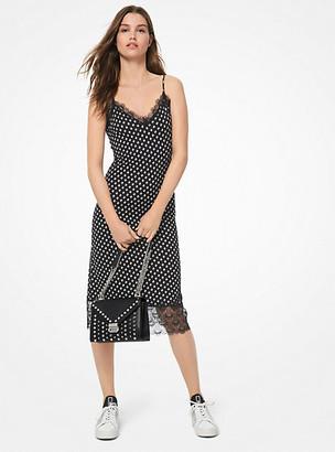 MICHAEL Michael Kors Dot Matte-Jersey Slip Dress