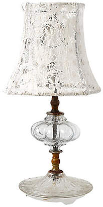 One Kings Lane Vintage Glass Tiered Lamp