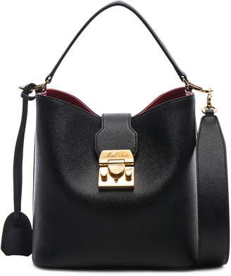 Mark Cross Murphy Small Bucket Bag in Black | FWRD