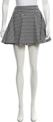 Jay Ahr Striped Mini Skirt