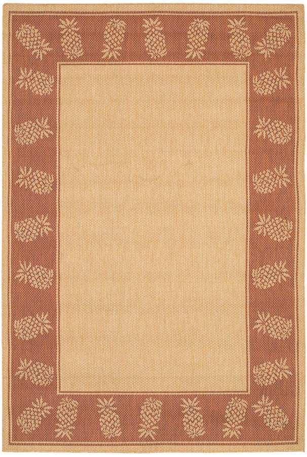"Couristan Couristan Area Rug, Recife Indoor/Outdoor 1177/1112 Tropics Natural-Terra-cotta 2' 3"" x 11' 9"" Runner"