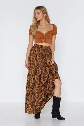 Nasty Gal Snake It Extra High-Waisted Maxi Skirt