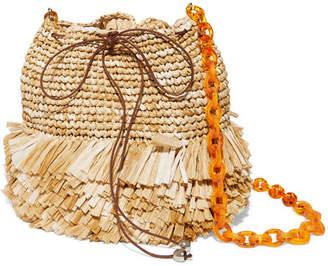 Carolina Santo Domingo Corallina Raffia Bucket Bag - Beige